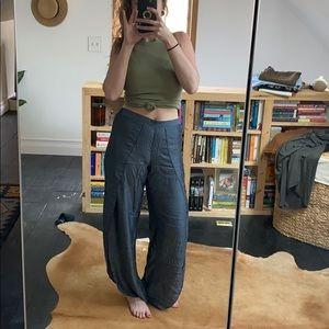 ⭐️BOGO50⭐️ Chambray Open-Side Wide Leg Pants -sz S